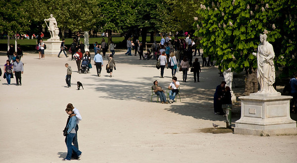 Parisians on a Saturday!