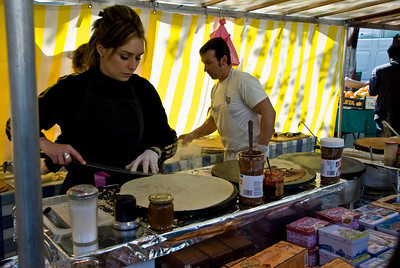 Crepes at the Bastille open market!