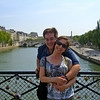 At the bridge near Notre Dame Cathedral