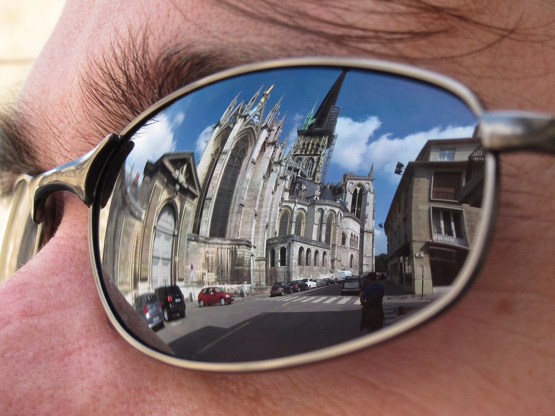 Rouen Cathedral, reflected