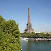 We had a day to look around Paris before joining up with the others for the bike riding tour.  This is one lucky picture.  We were riding the metro (the only way to get around Paris) and when above ground going over the Seine River (the metro is usually underground) I grabbed this pic from the moving train.  Just dumb luck that it turned out.