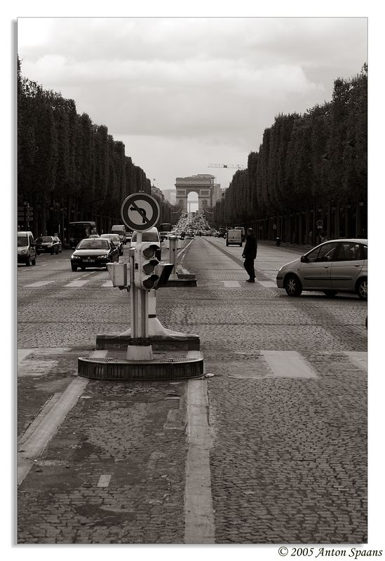 45. Place de La Concorde, looking over the Champs Elysees to the Arc de Triomphe.