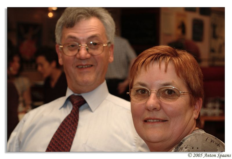 28. Laurence's mom and dad.