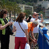 Everyone gets their various cameras out to capture the view of the beach at Nice.