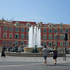 Fountain at the south end of the Place Massena.