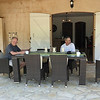 Our first full day - Saturday morning at the villa with Wayne & Peter having coffee.