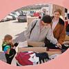 Kiersten, Eliska, and Veronika looking at clothing.