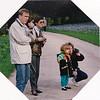 Karl and Eliska Kurzweil, Kiersten and Nancy Donaldson in the Bois de Boulogne.