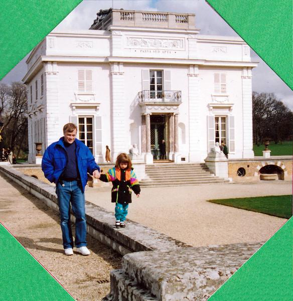 John and Kiersten in front of the Chateau de Bagatelle.