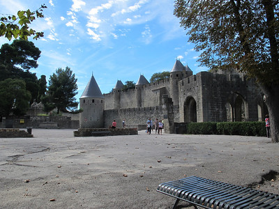 Carcassone is a board game, but also an amazing fortress/city from the middle ages that has been restored.