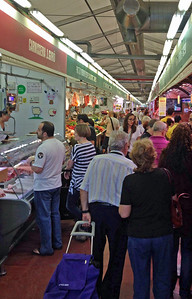 Ruth and I found a market in Barcelona before we drove down to meet Ron and Robin in Espira de l'Agly in France.