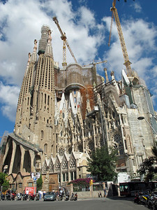 The basilica, started in 1882, is still under construction, with planned completion in 2026.