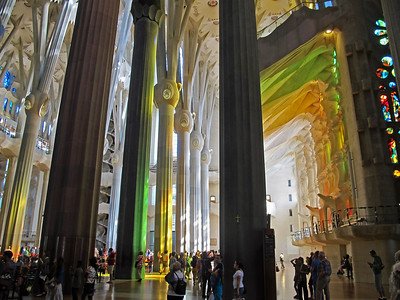 The incredible interior of the Sagrada Familia.