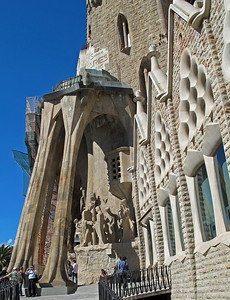 Profile of the Passion Facade which depicts scenes from the story of Christ's crucifixion.