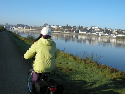 Riding in to Blois.