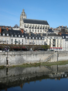 Old cathedral in Blois, taken while walking across the Pont.