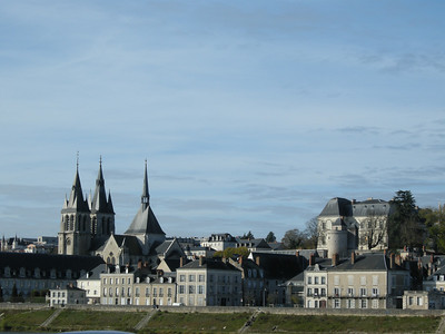 View from the Pont of a portion of the skyline of Blois.