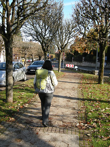 """In Blois, having taken the RER to Paris and then the TER to Blois. Walking near the """"gare"""" (train station.)"""