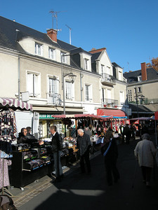 This day was the once-weekly market day, with many blocks worth of stalls selling a wide variety of items and foodstuffs.