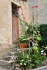 Small garden in front of cottage in Castelmoron d'Albret