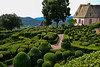 Jardin de Marqueyssac<br /> <br /> In the 1860s, the new owner, Julien de Cervel, began to plant thousands of boxwood trees - today there are over 150,000 - and had them carved in fantastic shapes, many in groups of rounded shapes like flocks of sheep. He also added linden trees, cypress trees, and stone pine from Italy, and introduced the cyclamen from Naples.[1] Following the romantic style, he built rustic structures, redesigned the parterres, and laid out five kilometers of walks