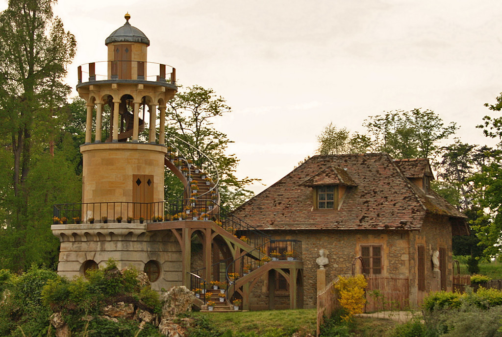 """The Petit hameau de la Reine (""""Little hamlet of the Queen"""") was the rustic retreat built for Marie Antoinette, sited in the private section of the park of Versailles"""