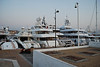 Yachts docked in Cannes' Port.
