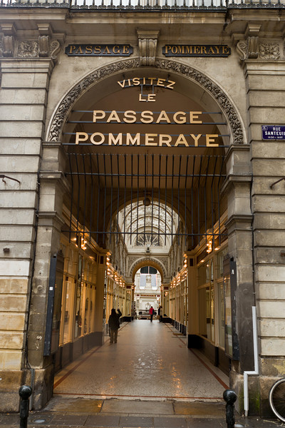 Nantes. Here is the Passage Pommeraye in the downtown area.