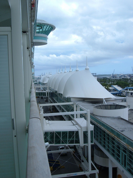 Terminal Building. from deck 7 port side towards the bow