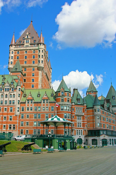 Looking at the Chateau Frontenac