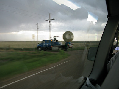 5/12/2009 - Blurry drive-by view of a DOW (Doppler on wheels) which was part of the 2009 Vortex2 project