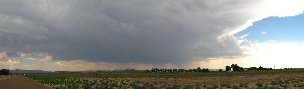 5/10/2009 Panoramic view of a storm south of Pecos TX