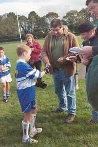 Declan getting his medal