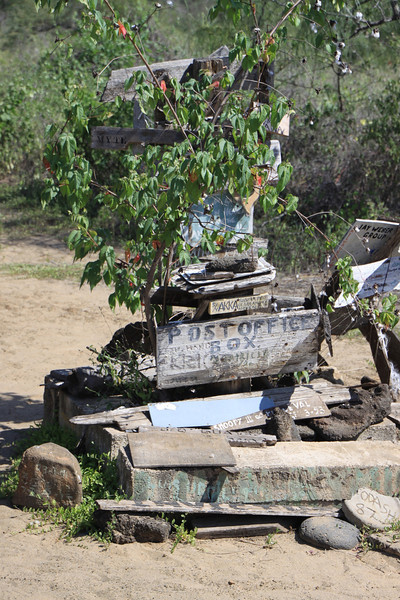 Post Office - mail dropped here is delivered by tourists going home to the area of delivery.