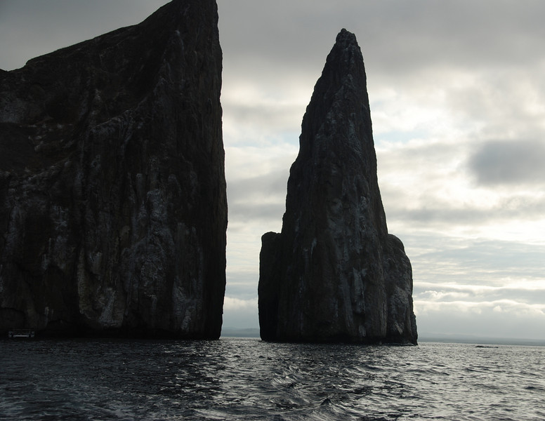 The other side of morning.  This backside of Kicker Rock after the sun has risen.