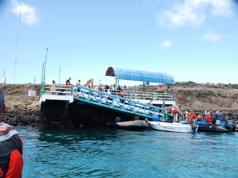 The quay that we walked down to get into the zodiacs.  We are so excited to be departing on this adventure!