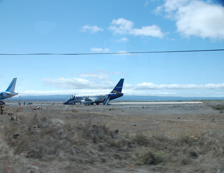 The plane that brought us from Quito.