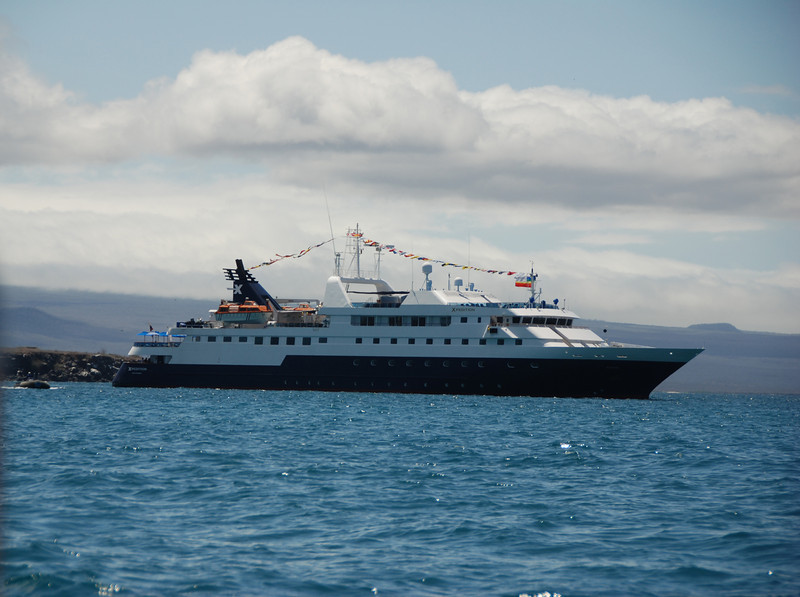 The Celebrity Xpedition holds about 120 passengers.  Our cruise was 83 people.