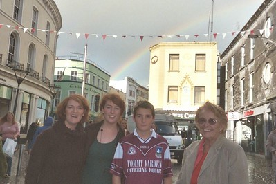 Rainbow and Galway street Margaret, Edel, Joseph, and Mom