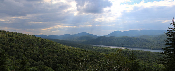 A stitched view off the top of Balm of Gilead Mt.