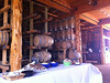 Lunch in the barrel-barn. Today, a fantastic fried chicken dinner.