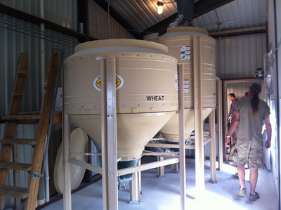 After being ground, the grain is stored here before being combined with water and cooked in the 'kitchen'.