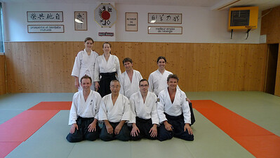 groepsfoto Yawara na aikido, Geneve