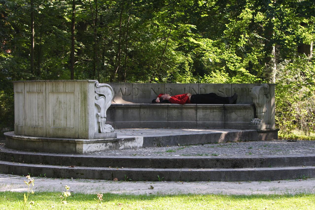 Napping in the Englischer Garten - Munich