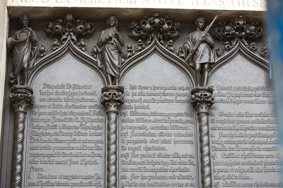 Bronze doors engraved with Martin Luther's theses.