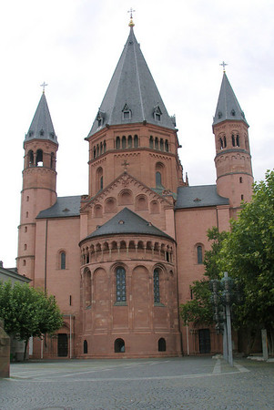 Mainz, Germany. St Martin's Cathedral and Downtown