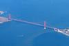 San Francisco Golden Gate Bridge from above