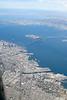 San Francisco Oakland Bay Bridge from above