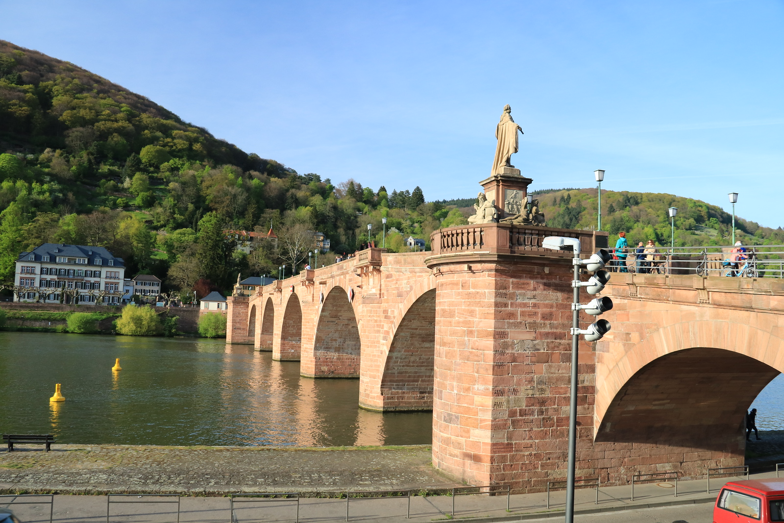 The Alte Brucke or Old Bridge dates to 1786-88.  It provides great views of this beautiful city.