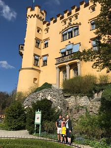 At Hohenschwangau.  We did not go inside this palace.